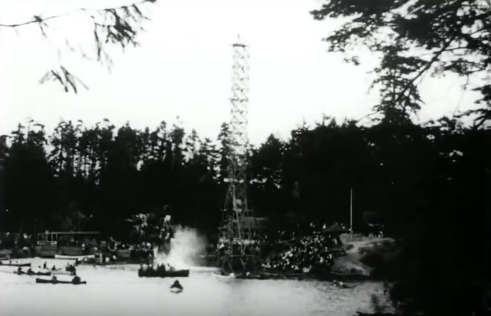 Swimming in the Gorge Waterway at Curtis Point in about 1922 - BC History YouTube Channel