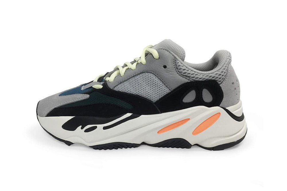dbcc09b45 The Adidas Yeezy Wave Runner 700 was silently released yesterday on Yeezy  Supply. Kanye has been seen several times wearing this pair