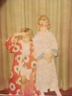 Julie and her big sister, Liz, 1972