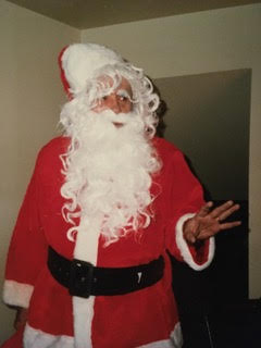 My dad, James Michael Meagher, Jr. playing Santa in the late 80s