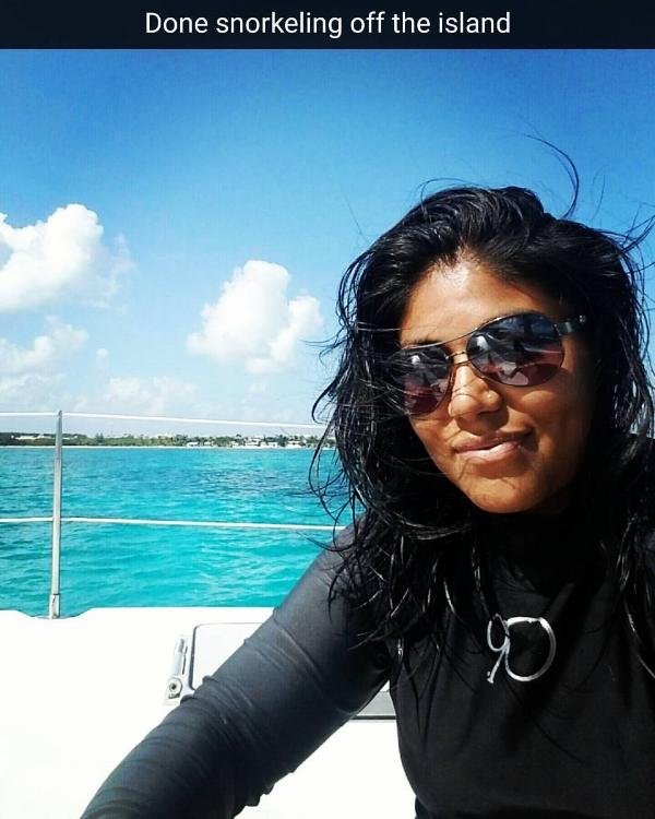 Snorkeling off Isla Mujeres