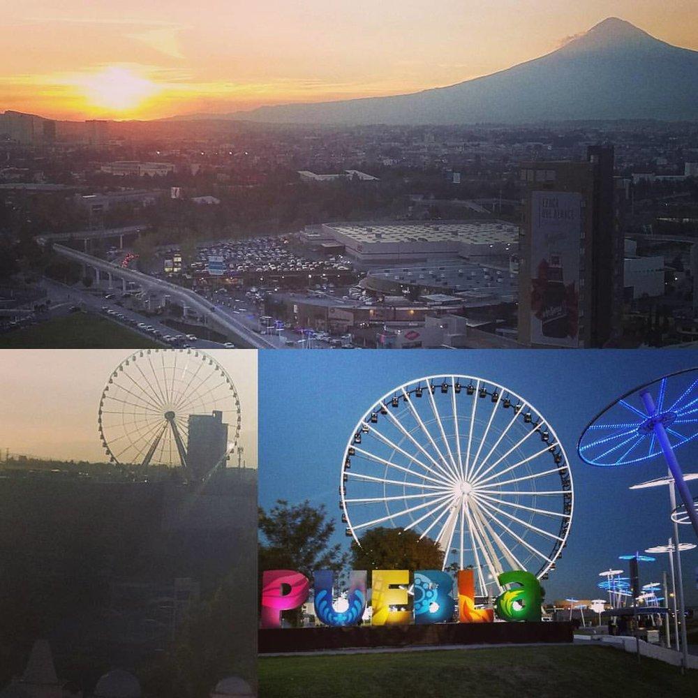 Night time in Puebla