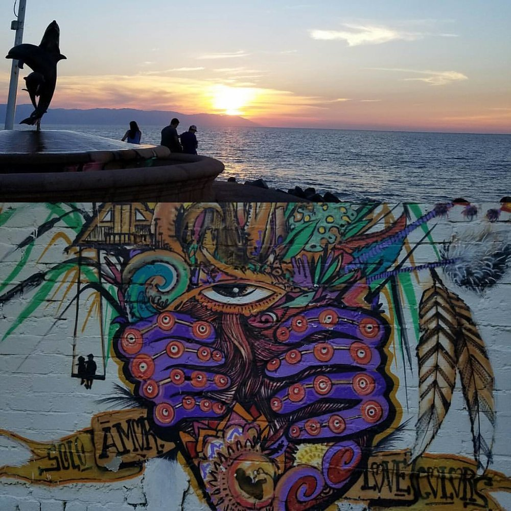 Artwork at the beach in Sayulita