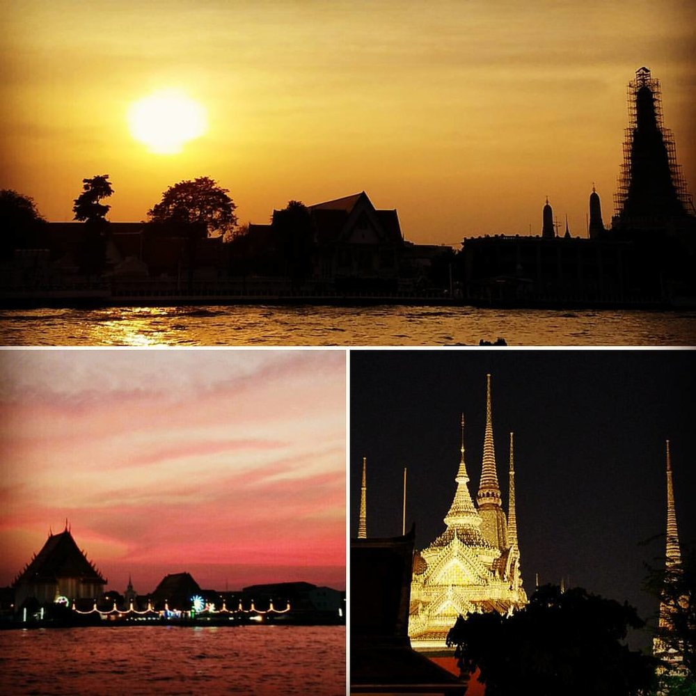 Sunset over Chao Phraya River