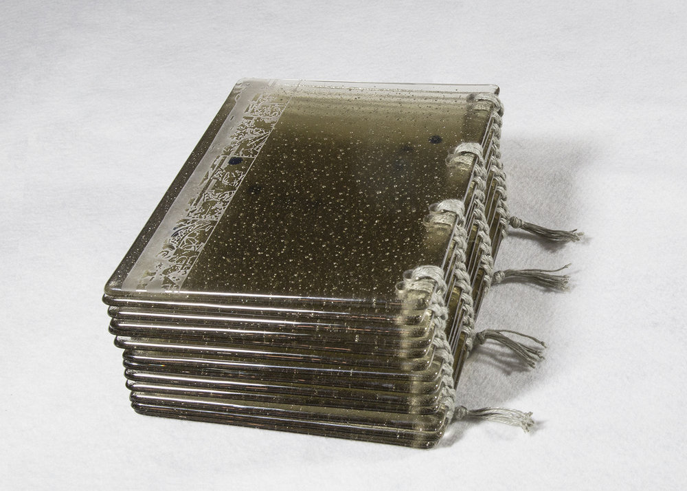 glass artist's book, glass artist book, strength of quiet persistence, Berlin Jewish community