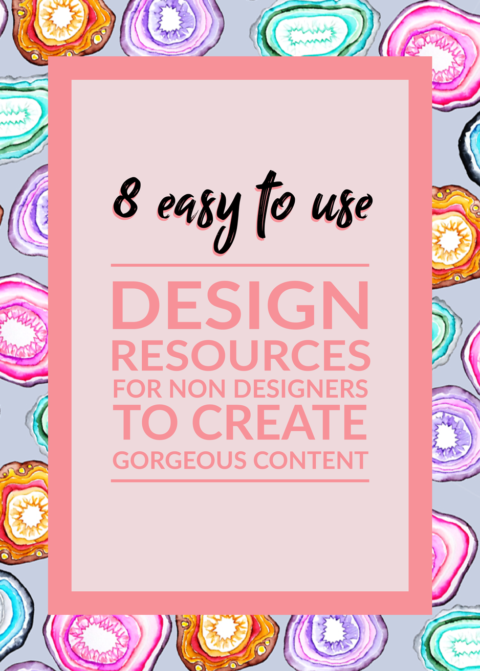 These 8 easy to use design resources will turn have you doing your own graphic design in no time.