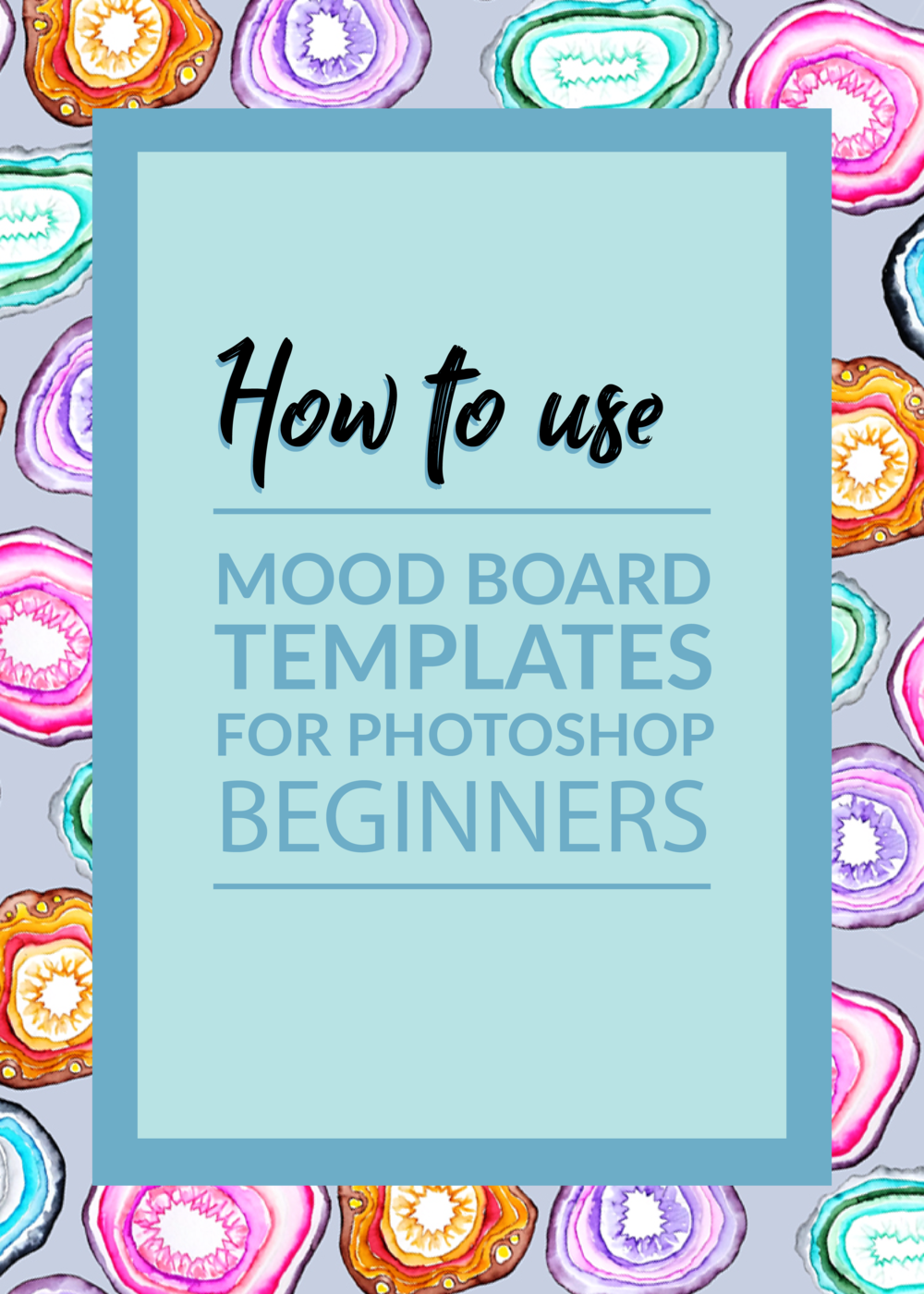 I've made 3 easy to use Photoshop mood board templates for creating fun style inspiration collages. I've included a video tutorial to show you what to do!