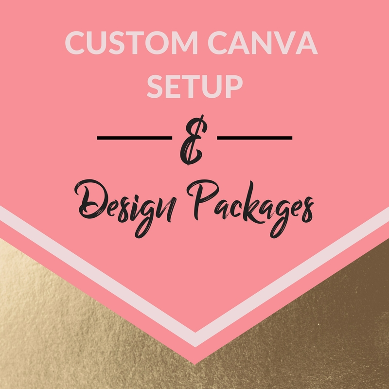 Stop putting your branding off. Canva makes it easy to create gorgeous assets for your business. Don't have any design chops? Don't worry. I can hook you up. - ;