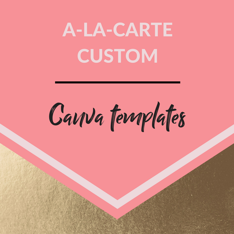 Just need a custom Canva template for a client welcome package or a slide deck? I offer A-La-Carte template design services as well. - ;