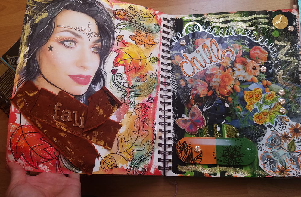 Some pages from one of my Art Journals. They are all ongoing works in progress.