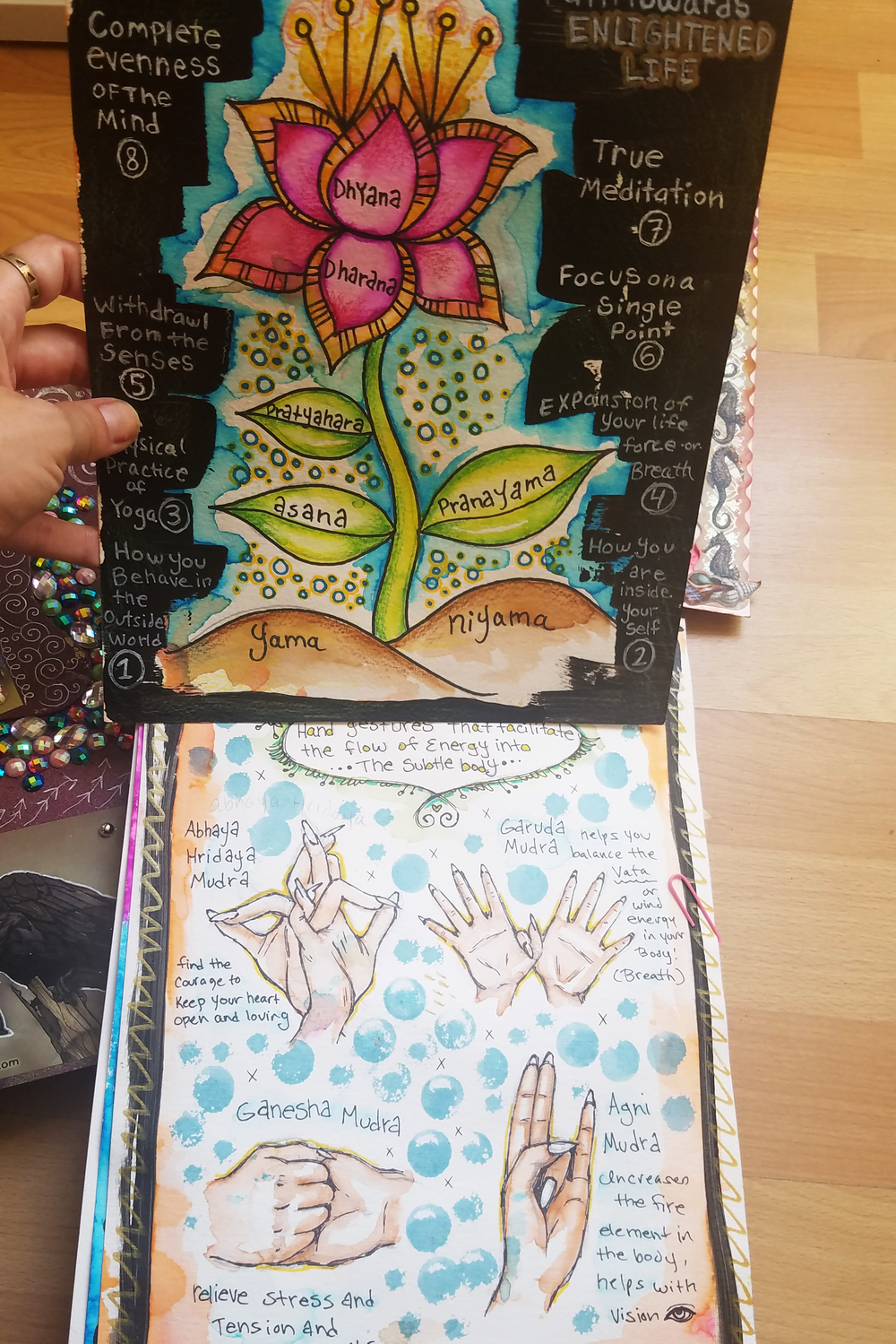 This Art Journal is yoga related!