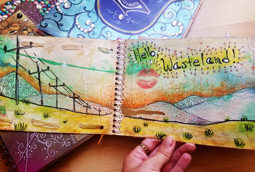 One of my favorite things about Art Journaling is that it gives me an instant memory of what I was feeling and doing when I made the page.