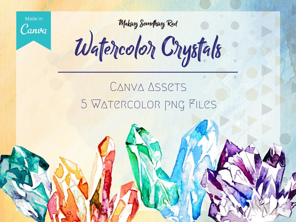 Watercolor crystals, so hot right now.