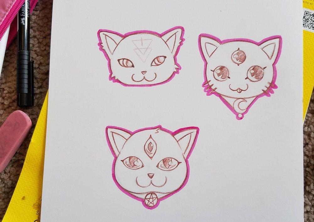 cute kittens illustration