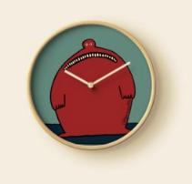Bad News - wall clock