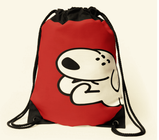 Pup Running_Close-Up_drawstring_Bag.png