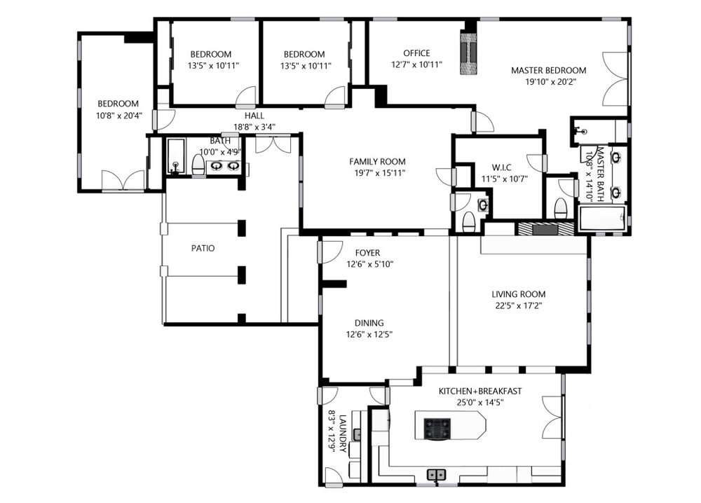 Black-and-white floor plans with every Matterport tour.  Everything you need to list a home.
