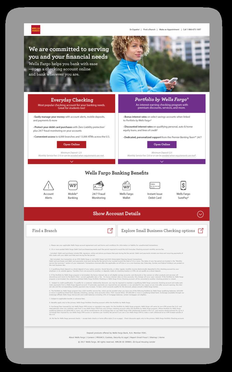wells fargo full website version