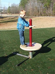 Spinny thing recently encountered at a park: I don't know what it is, but I don't like it.