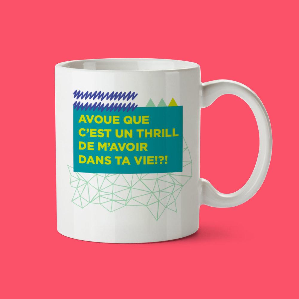 Oui Manon   Avoue que c'est un thrill de m'avoir dans ta vie!?!