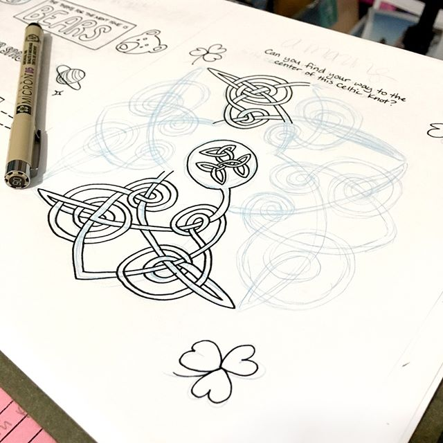 """This maze was so challenging to draw that I don't think I made it very challenging to do!! 😉 Don't worry, it's still pretty tricksy ☘️ Issue 13 """"Ireland"""" is all about my birth country! 🇮🇪 Learn some fun facts and do some even more fun activities all about the Emerald Isle. Get your copy now! Link in bio 💚"""