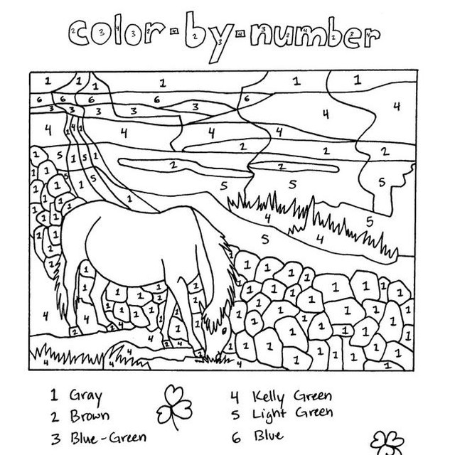 Color by Number from the Ireland issue! 🍀