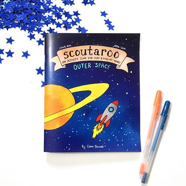 The new issue is here, the new issue is here! Issue #14 is all about OUTER SPACE! ☄️🌌💫 It's chock full of fun activities including a maze, word find, hidden pictures, connect the dots, crafts, and more 💙 Enjoy!