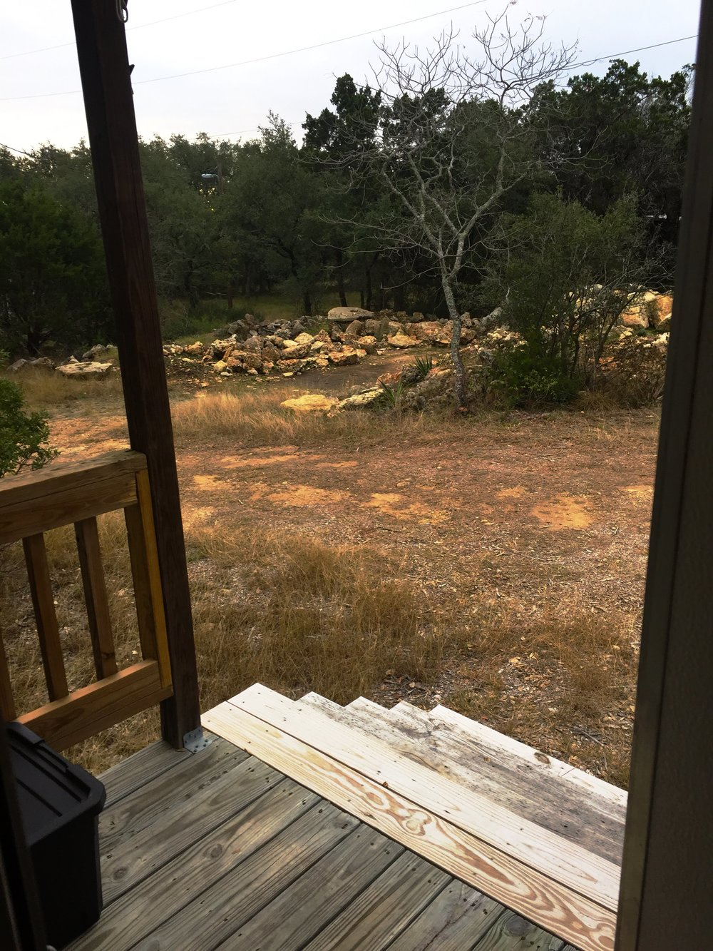 East Canyon Lake, TX - Looking out my front door...