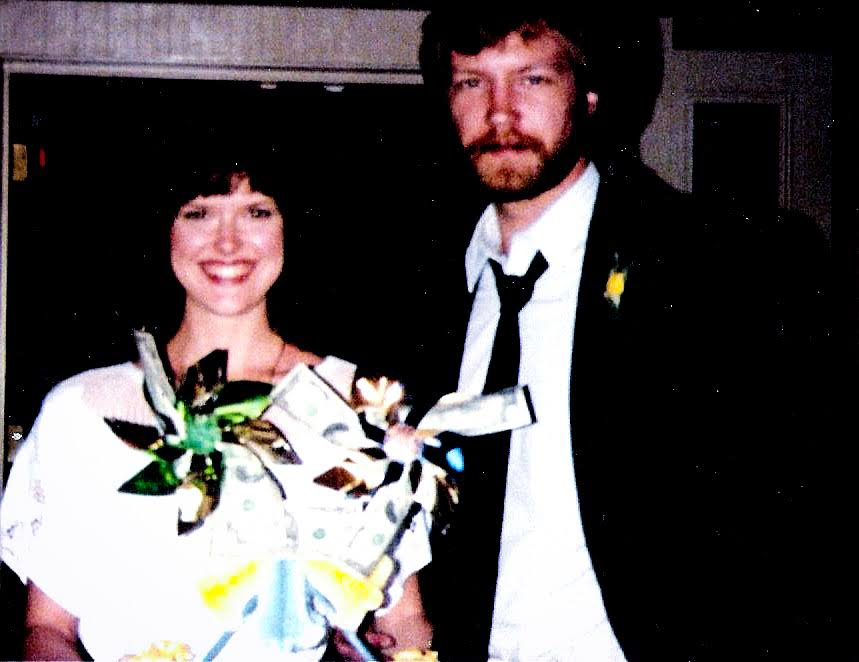 The thin and happy couple, 35 years ago
