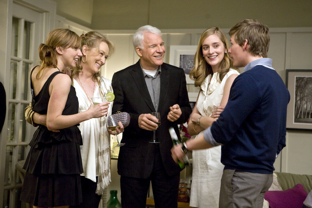 Kazan, Streep, Martin, Caitlin Fitzgerald, and Hunter Parrish