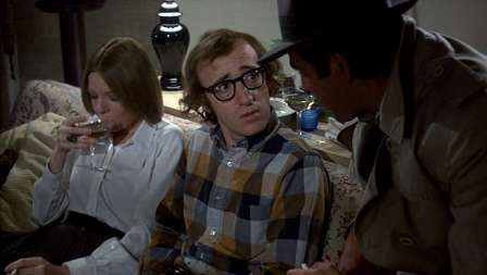 """Diane Keaton, Woody Allen, and Jerry Lacy in """"Play It Again, Sam"""" (1972)"""