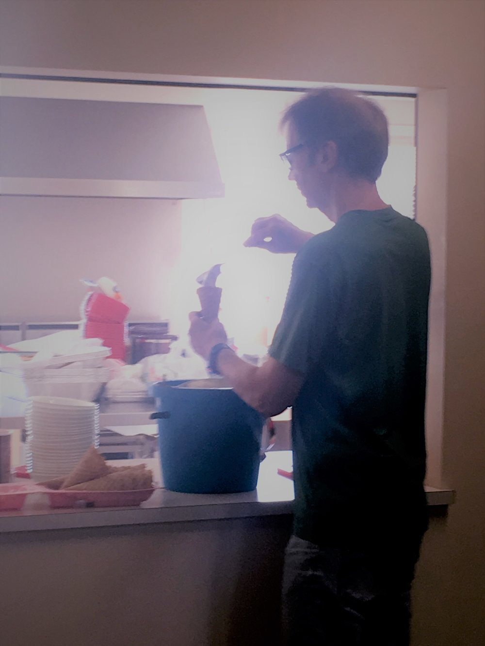 For some reason, this is the most disturbing picture (although I'm making an ice cream cone). Just seems scrawny.