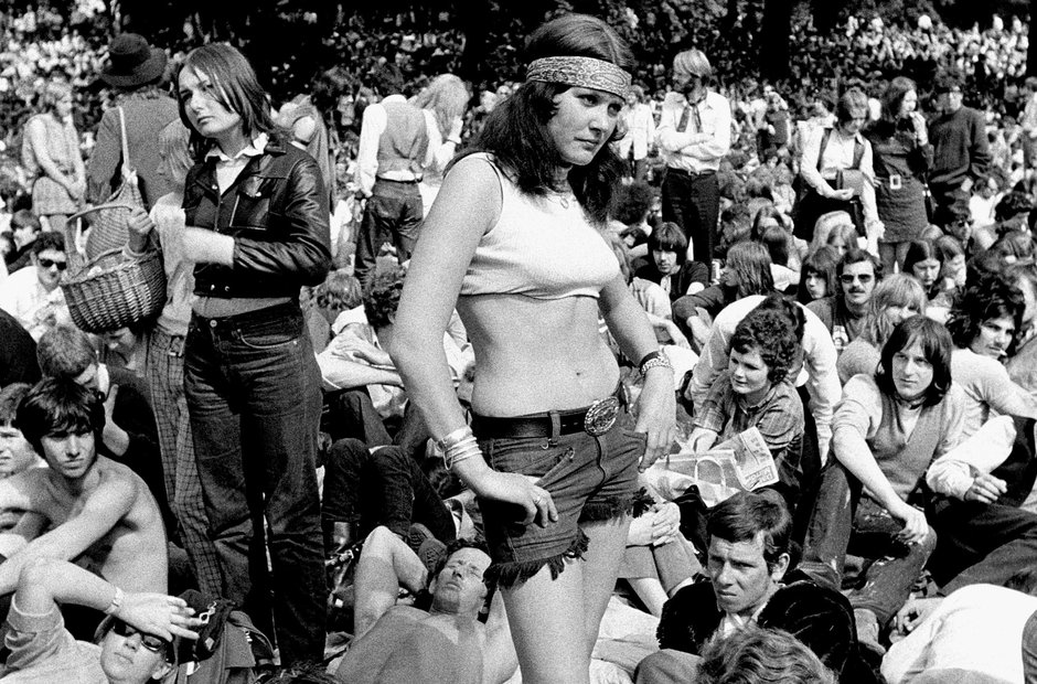 Rolling Stones concert at Hyde Park in 1969
