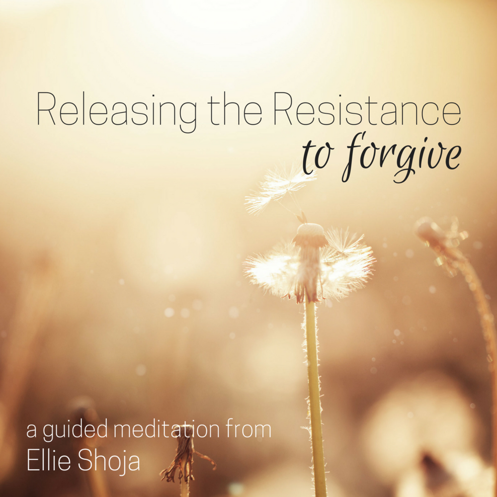 """""""RELEASING THE resistance to forgive"""" is a beautiful heart-opener meditation that will allow you to release what has been haunting you so you can live in peace and tranquility."""