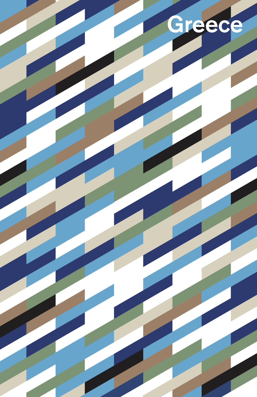Greece palette; 2017 Color palette of Greece created for Graphic Design 1 class at Northeastern