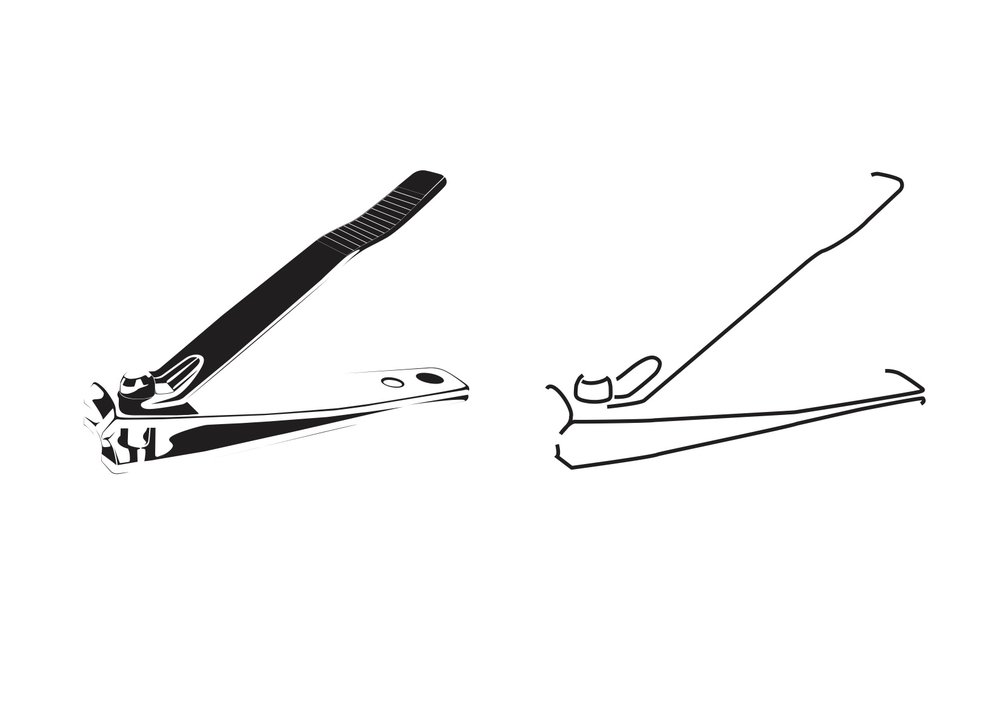 Clipper; 2017 Graphic translations of a nail clipper