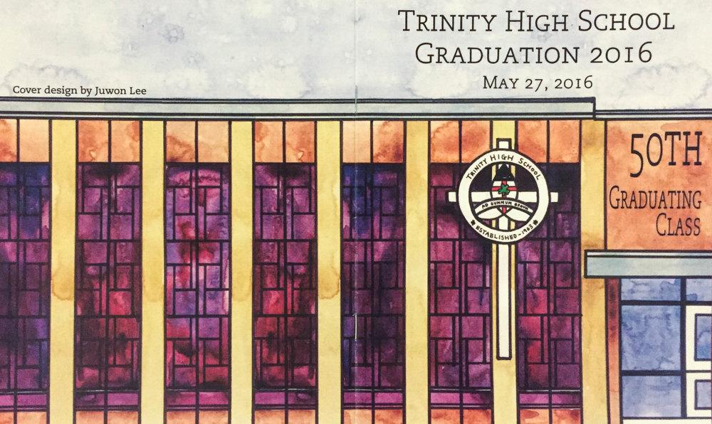 Graduation Program; 2016 Program design created for Trinity High School's (Camp Hill, PA) graduation