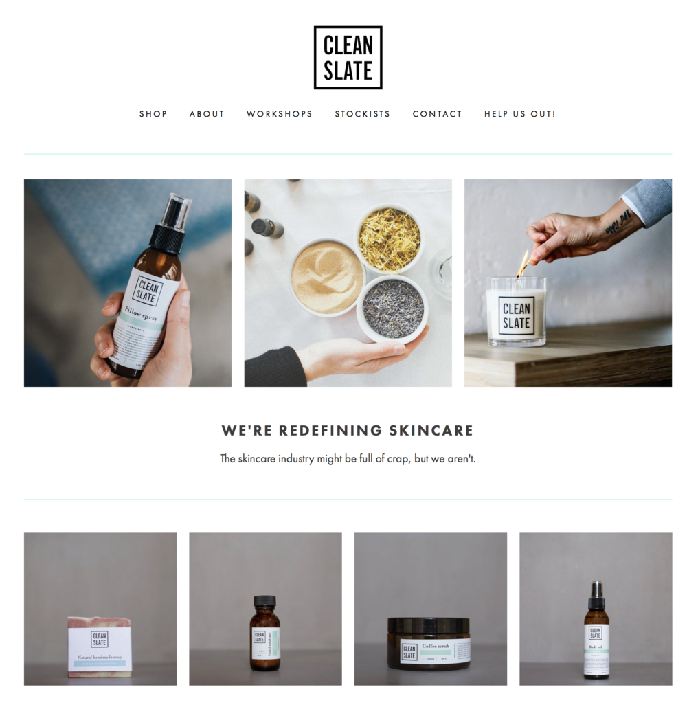 Clean Slate - Skincare    All Clean Slate Products are plant based, natural & cruelty free certified.   A:  Stackwood, 10 Stack Str, Fremantle, 6160   E:  hello@cleanslateskincare.com   W:    www.cleanslateskincare.com