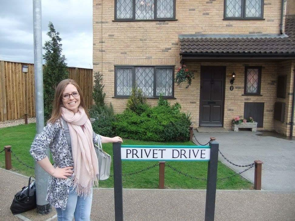 Me outside Privet Drive at the Warner Bros Studios - geek