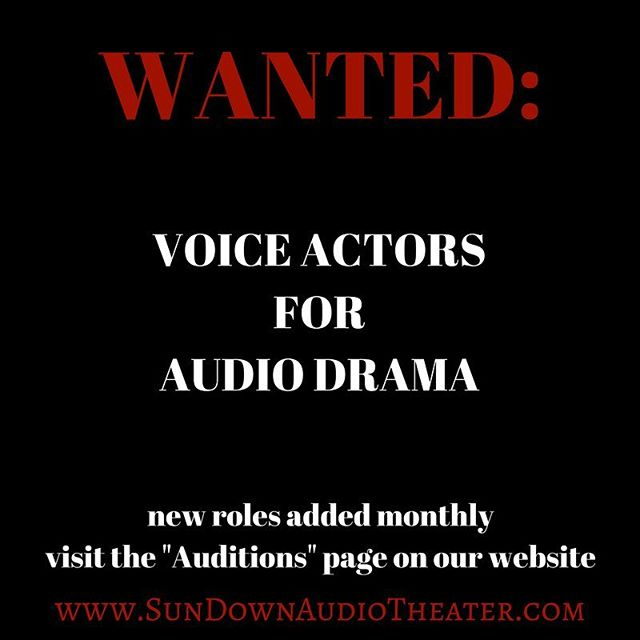 Are you a voice actor, or would like to give voice acting a try? Audition for a paid role on one of our original audio drama productions. New roles added monthly. Link in bio. #actorslife #voiceacting #voiceactors #acting #actingclasses #audiodrama #podcast #theater #actor #comedy #horror