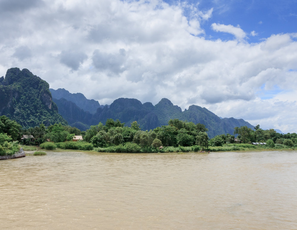The countryside around Vang Vieng