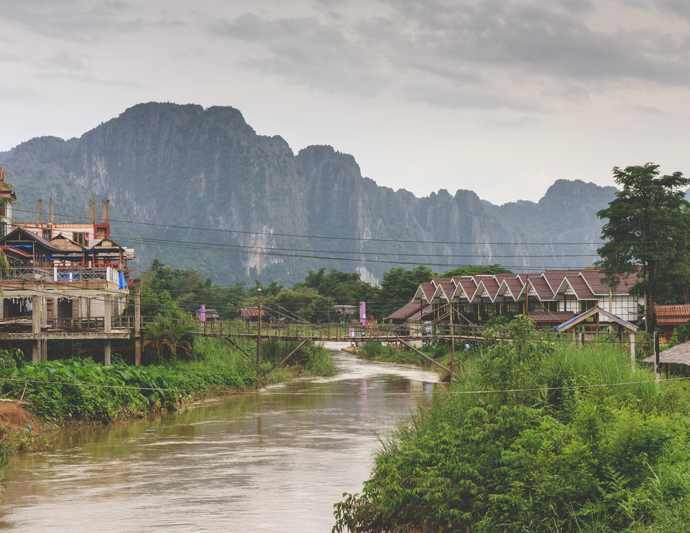 The Nam Song river at Vang Vieng
