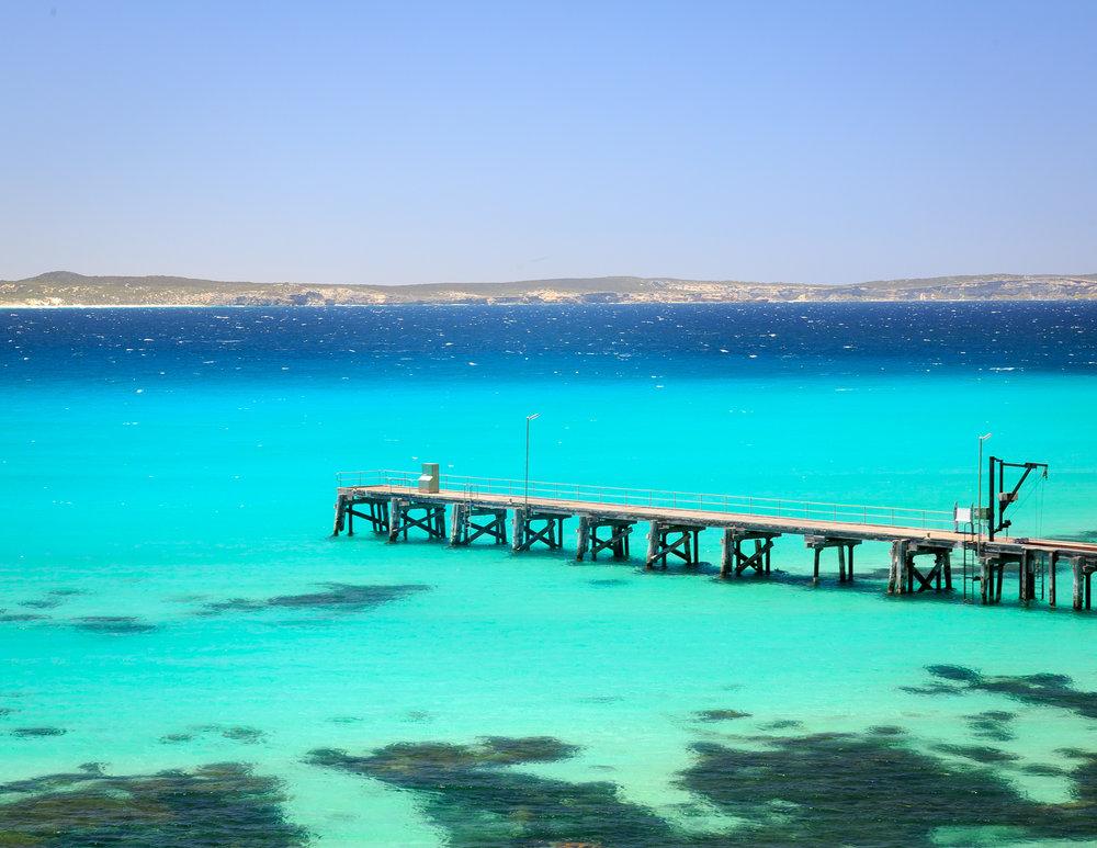 Kangaroo Island Ferry: The pier at Vivonne Bay Pier