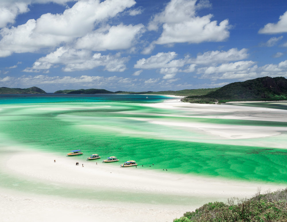 Is it a dream? The view from Hill Inlet, Whitehaven beach.