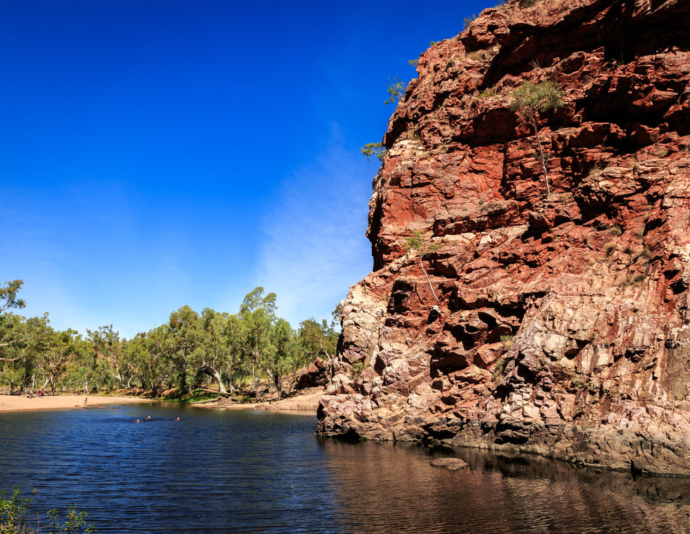 The water hole at Ormiston Gorge