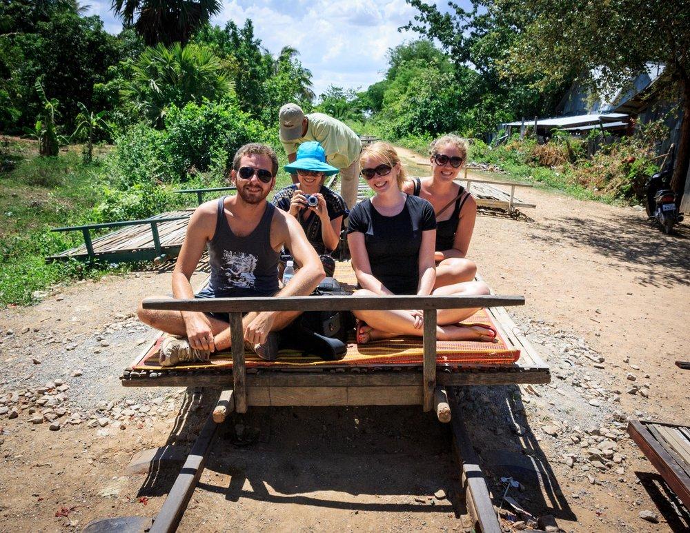 The Bamboo Train in Battambang