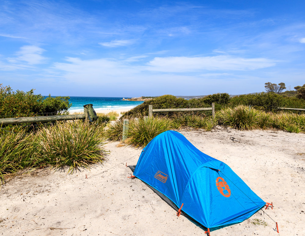 Camping at Swimcart Beach