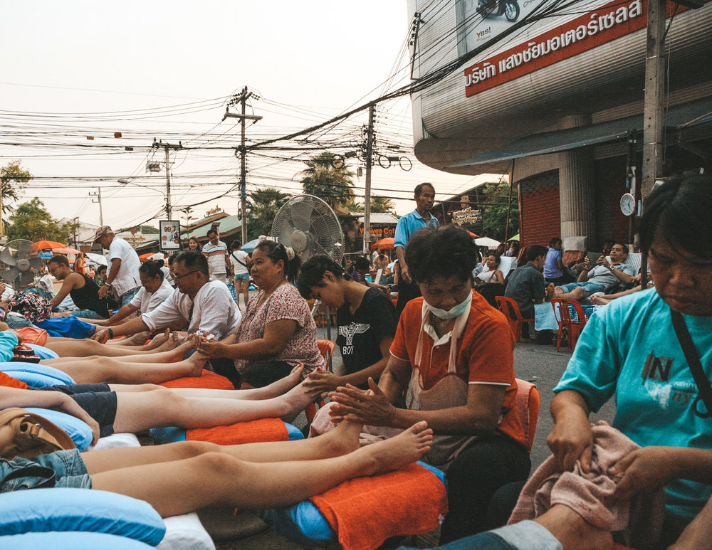 Street massage, Bangkok