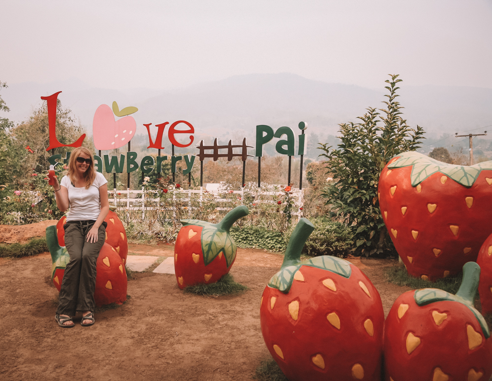 Pai Strawberry Cafe, best things to do in Thailand