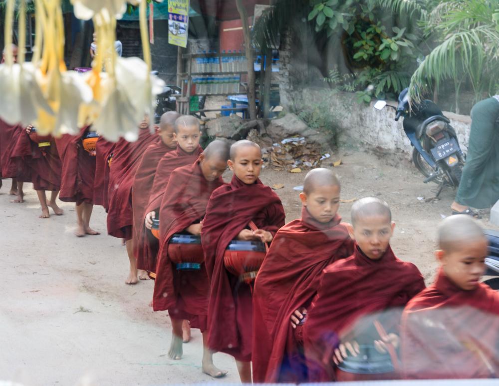 Alms ceremony, Luang Prabang Laos